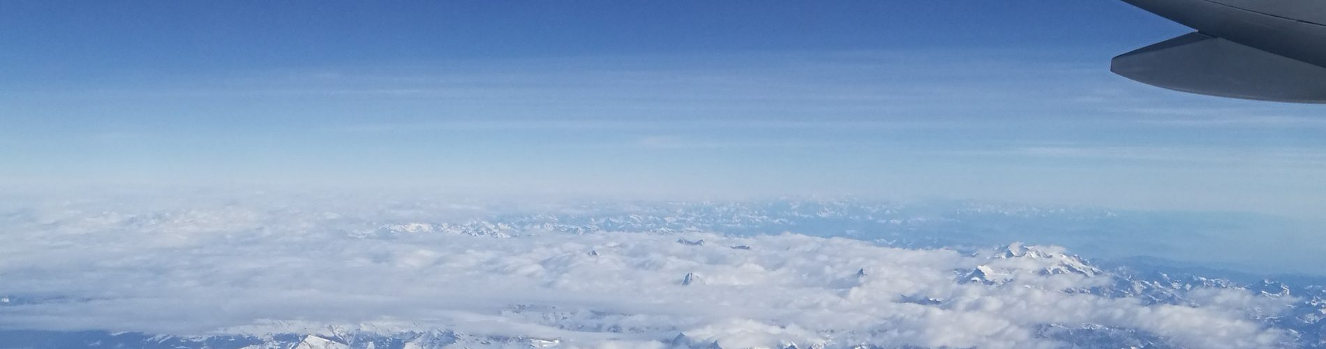 Air photo of the Alps